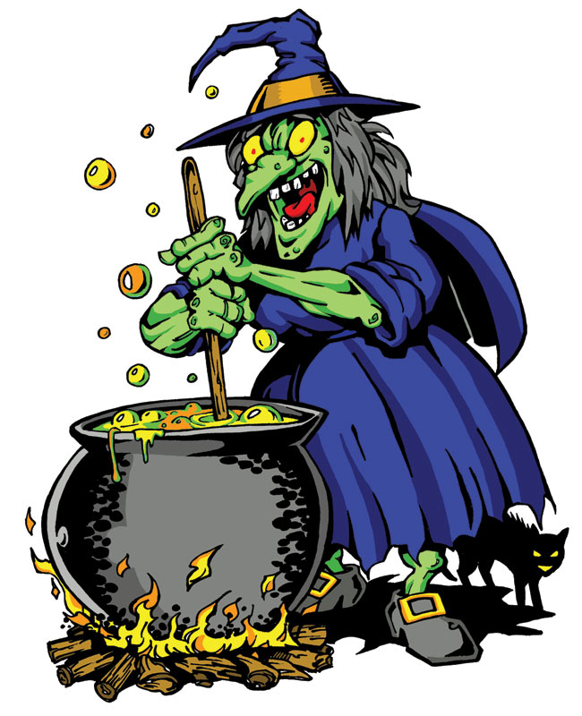 evil cartoon witches - 650×800